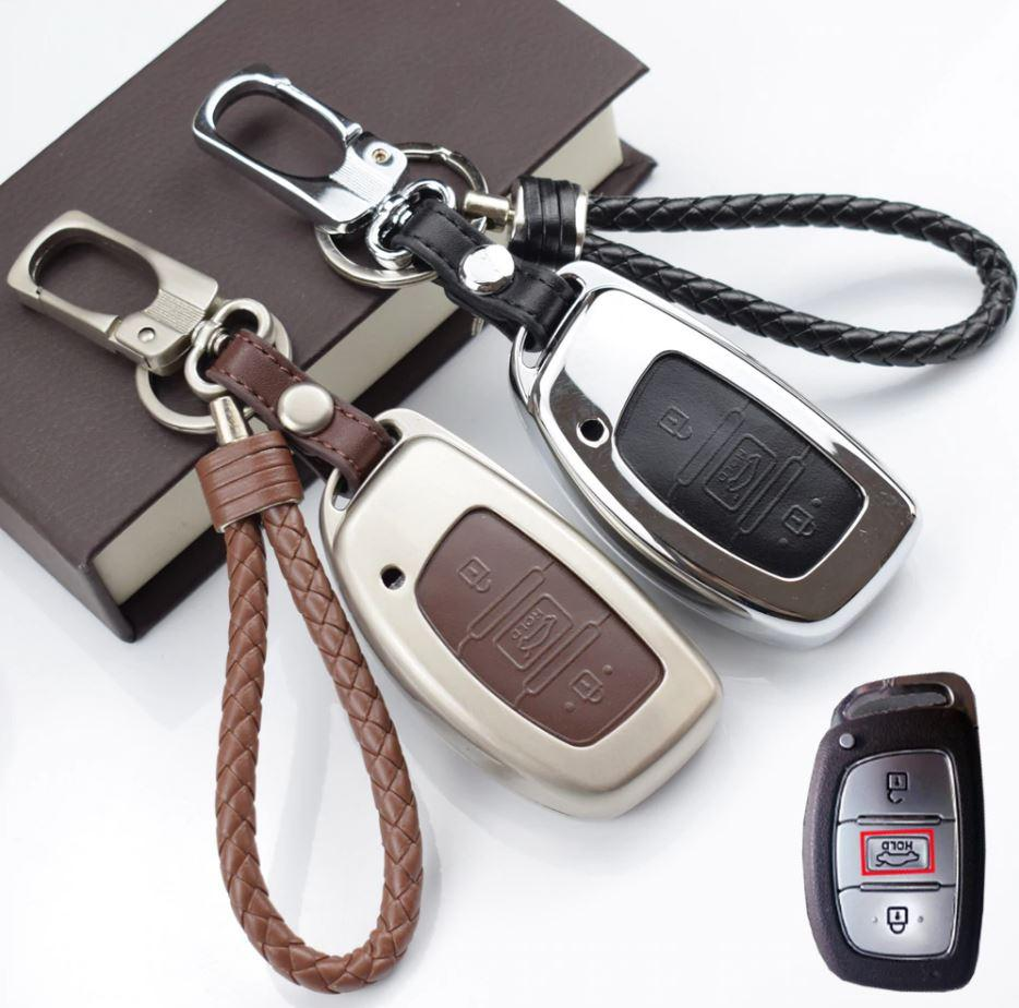 Металлический чехол для ключа Hyundai i10,i20,i40,Accent,Elantra,Sonata, Tucson,Santa Fe,VERNA,Genesis,IX35