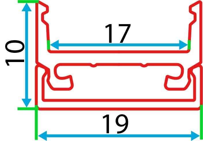 Накладний алюмінієвий профіль разом з розсіювачем 2 м для LED стрічки АЛ-10, фото 3