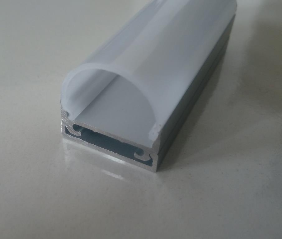Накладний алюмінієвий профіль разом з розсіювачем 2 м для LED стрічки АЛ-10, фото 1