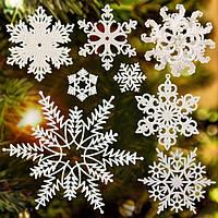 Новогодний декор елочное украшение Снежинка на елку
