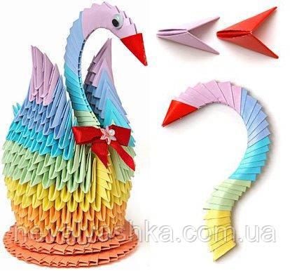 Творчество Модульное оригами Лебедь орігамі Стратег Strateg, 203-1  002432, фото 1