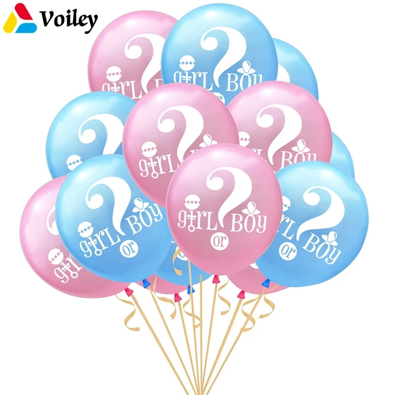 Набір латексних повітряних кульок хлопчик чи дівчинка асорті