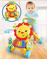"""Ходунки / каталка / Музыкальный толокар """"Весёлый львёнок"""" Baby Walker 869-52"""