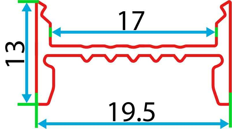 Накладний алюмінієвий профіль разом з розсіювачем 2 м для LED стрічки АЛ-11-01, фото 2