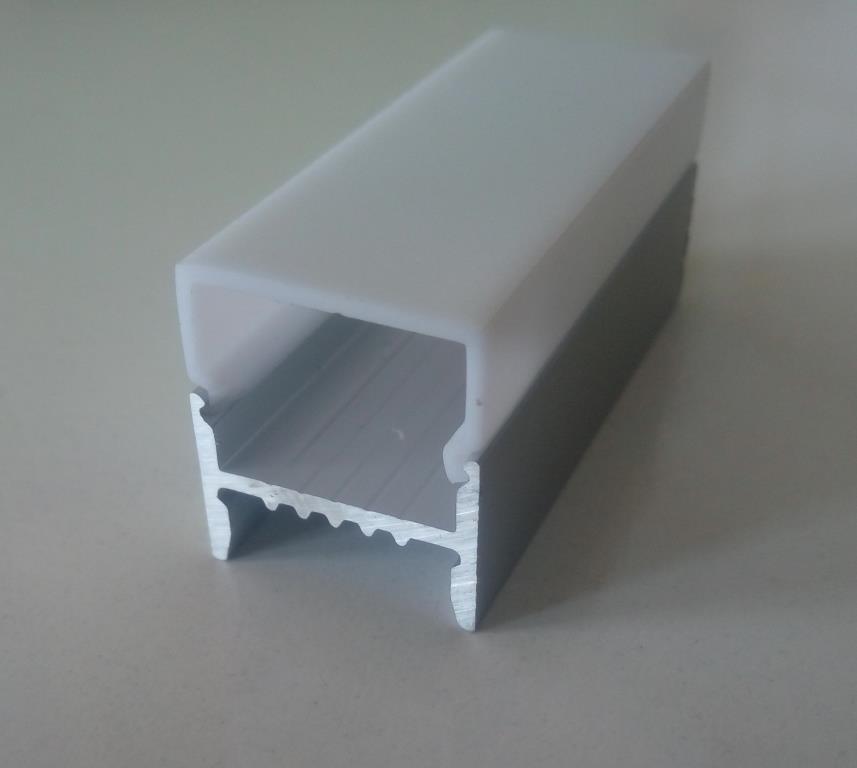 Накладний алюмінієвий профіль разом з розсіювачем 2 м для LED стрічки АЛ-11-01, фото 1