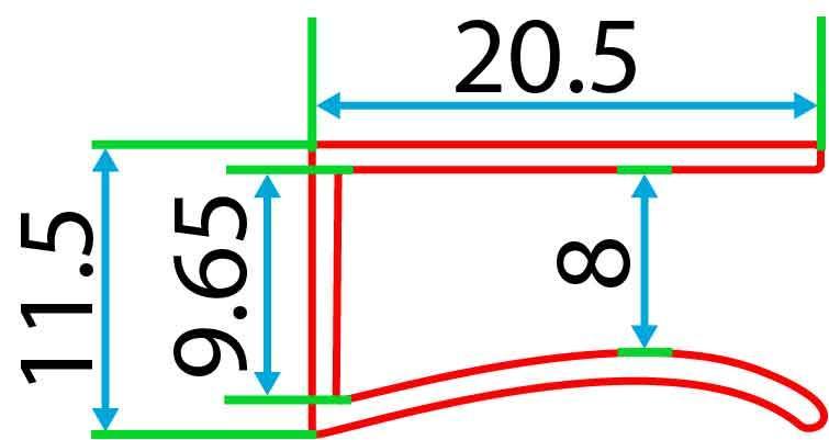 Алюмінієвий профіль 2 м для LED стрічки АЛ-13 для підсвітки скла, фото 2