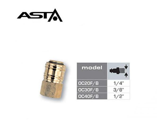 Быстросъем с внутр.резбой 1/4 (латунь) ASTA OC20F/B