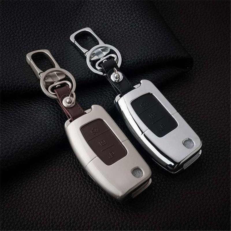 Металлический чехол для ключа Ford fiesta,B/C/S-max,Focus,Kuga,Edge,Mondeo, Mustang,fusion,Explorer,Taurus