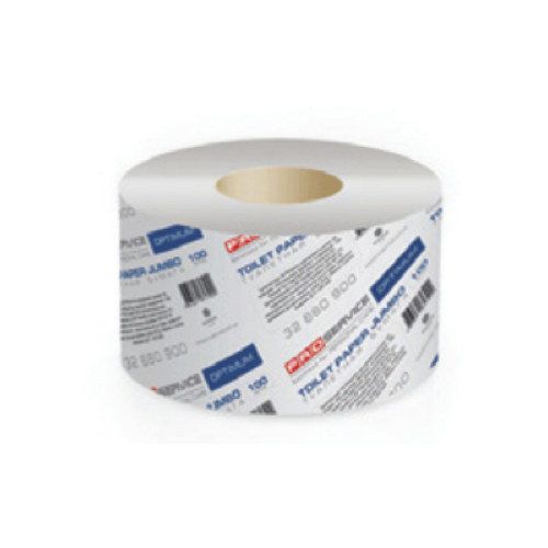 Туалетная бумага Eco Optimum ТМ Pro Service для диспенсеров Джамбо серая макулатурная однослойная 16 шт/уп - фото 1