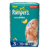 Подгузники Pampers Active Baby-Dry 3 4-9 kg 70 шт., фото 1