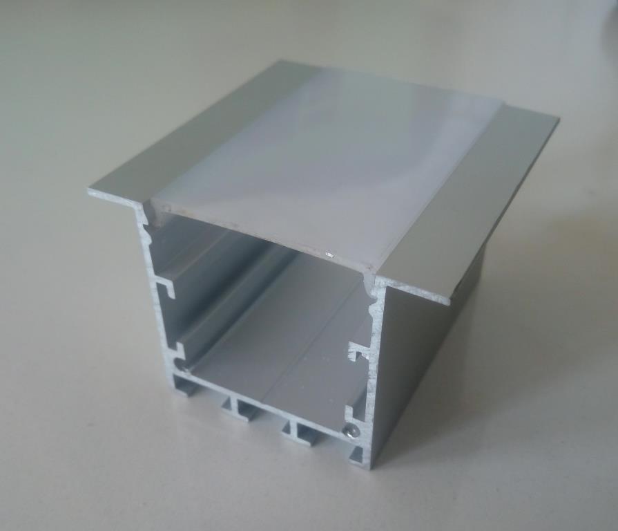 Врізний алюмінієвий профіль разом з розсіювачем 2 м для LED стрічки АЛ-17, фото 1