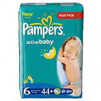 Подгузники Pampers Active Baby-Dry 6 Extra Large 15+ 44 шт., фото 1