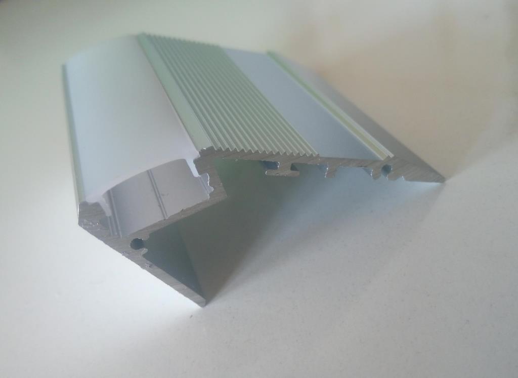Алюмінієвий LED  профіль для сходів 2 м АЛ-19, фото 1