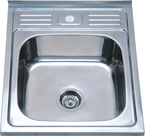 Накладна кухонна мийка з нержавіючої сталі Platinum 5060 Полірування 0,7