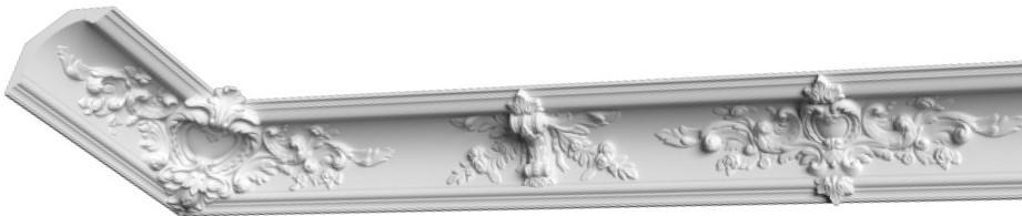 Карниз из гипса, гипсовый карниз к-66  h270х295 мм
