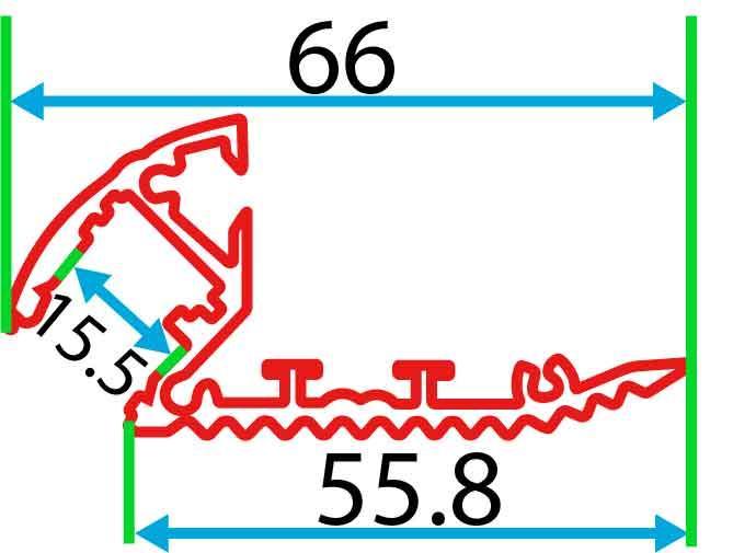Алюмінієвий LED  профіль для сходів 2 м АЛ-19-01, фото 2