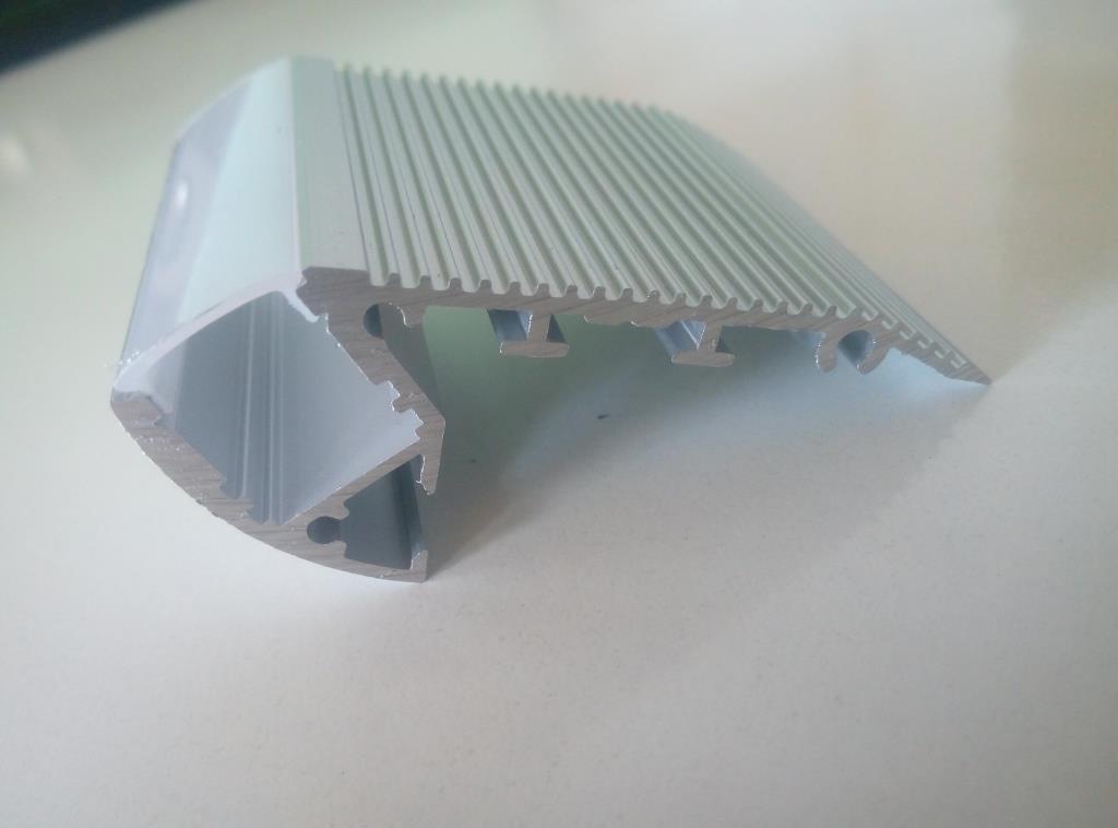 Алюмінієвий LED  профіль для сходів 2 м АЛ-19-01, фото 1