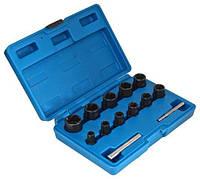 Набор спец головок ударных для слизанных гаек 13 ед. SATRA S-TS13X