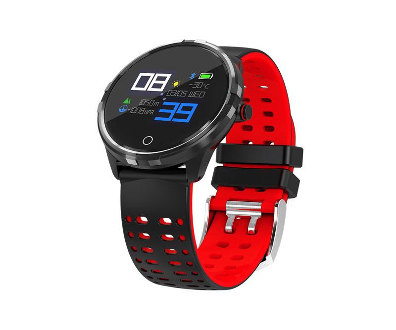 Фитнес браслет X7 цветной IPS дисплей тонометр давления крови iPhone и Android трекер пульсометр черно красный