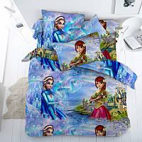 Эльза, подростковое постельное белье для девочек (бязь премиум, 100% хлопок)