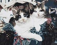 Раскраска по цифрам 40×50 см. Котята в корзинке , фото 1