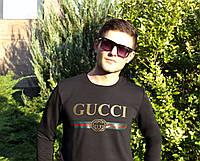 Мужской спортивный свитшот, кофта на флисе Gucci, Реплика