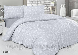 Комплект постельного белья фланель North Евро размер