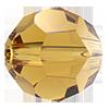 Круглые хрустальные бусины Preciosa (Чехия) 6 мм Topaz