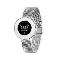 Женские Часы Фитнес браслет X6 тонометр давления крови для iPhone и Android спорт трекер пульсометр Серебро