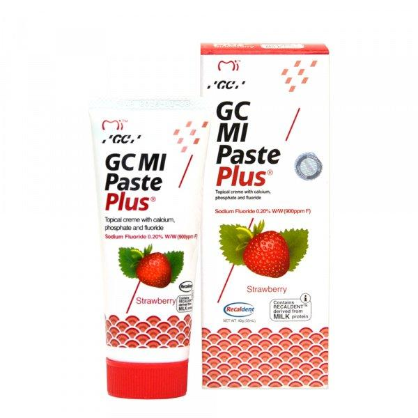 Крем для зубов GC Mi Paste Plus Strawberry 35 мл Тус Мусс, Тусмус,Тус Мус (Tooth Mousse) Гель Для Восстановлен