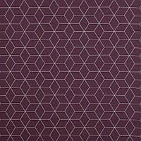 Хлопковая ткань Шестигранники бордо