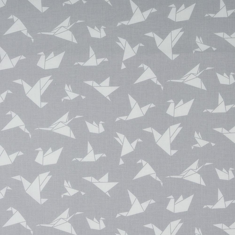 Хлопковая ткань Оригами серая