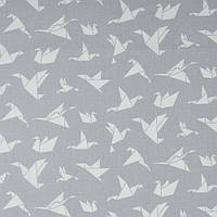 Хлопковая ткань Оригами серая, фото 1