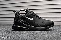 Мужские Зимние кроссовки Nike Air Max 270 Black (WNTR), Нубук