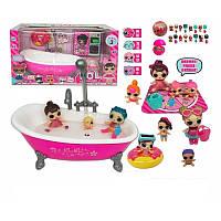 Кукла Лол LOL с ванной арт. TM923 (из крана идёт вода, звуковые и световые эффекты)