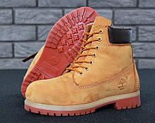 Зимние ботинки Timberland, мужские\женские ботинки с натуральным мехом. ТОП Реплика ААА класса., фото 3