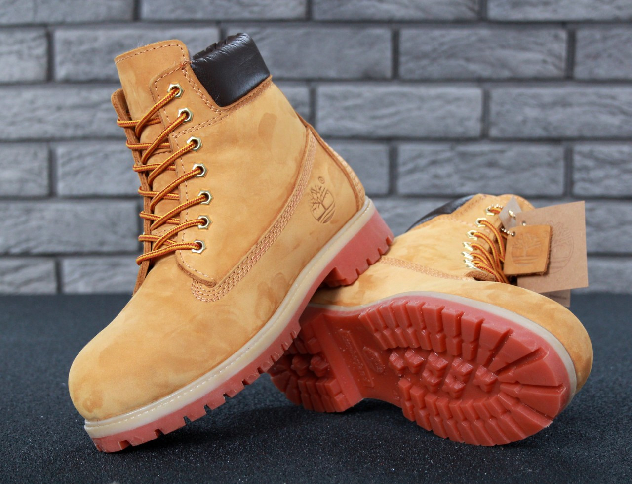 Зимние ботинки Timberland, мужские\женские ботинки с натуральным мехом. ТОП Реплика ААА класса.