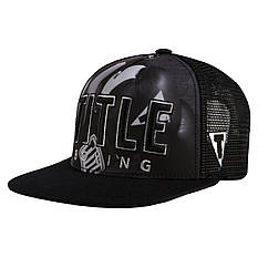 Бейсболка Title Boxing Gloves Adjustable Flat Bill Cap Black