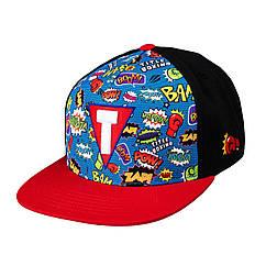 Бейсболка Title Boxing Superhero Snapback Cap черно-красная