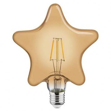 Лампа Эдисона светодиодная 6W Horoz Е27 2200К STAR, фото 2