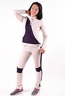 Женский спортивый костюм  с лампасами MilaVa бежевый размер 40-46 M