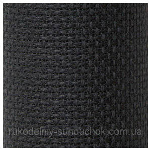 Канва Аида 14 черная (премиум класса) (55 кл./10 см)