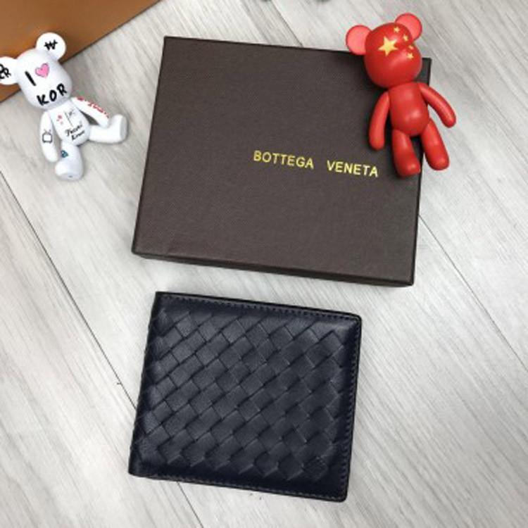 132139df675c Кожаный кошелек Bottega Veneta черный плетеный бумажник кожа женский  мужской портмоне Боттега люкс реплика - Ваш
