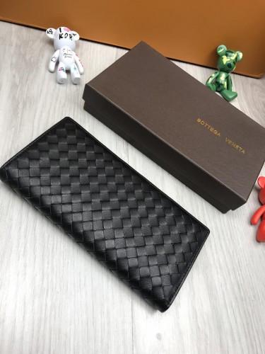 196ab805d9bc ... фото Кожаный кошелек Bottega Veneta черный клатч натуральная кожа  женский мужской бумажник Боттега Венета реплика, ...