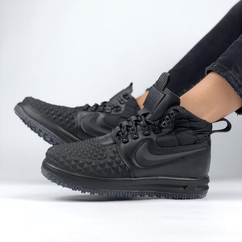 2d22b99a Nike Lunar Force 2 Duckboot '17 Black | ботинки/кроссовки мужские; высокие;