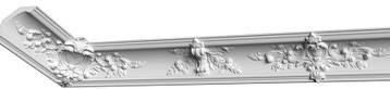 Карниз из гипса, гипсовый карниз к-125  h185х185 мм.