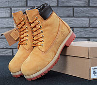 5d7cf63ed525 Timberland 6 inch Yellow Boots (с мехом)   ботинки мужские и женские  рыжие