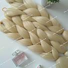 Однотонная коса канекалон блонд, фото 9