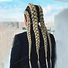 Однотонная коса канекалон блонд, фото 3