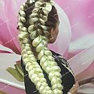 Однотонная коса канекалон блонд, фото 5